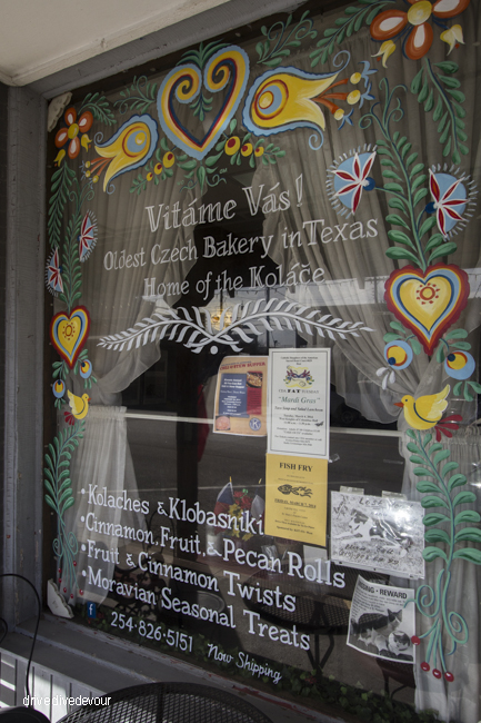 Village Bakery store window