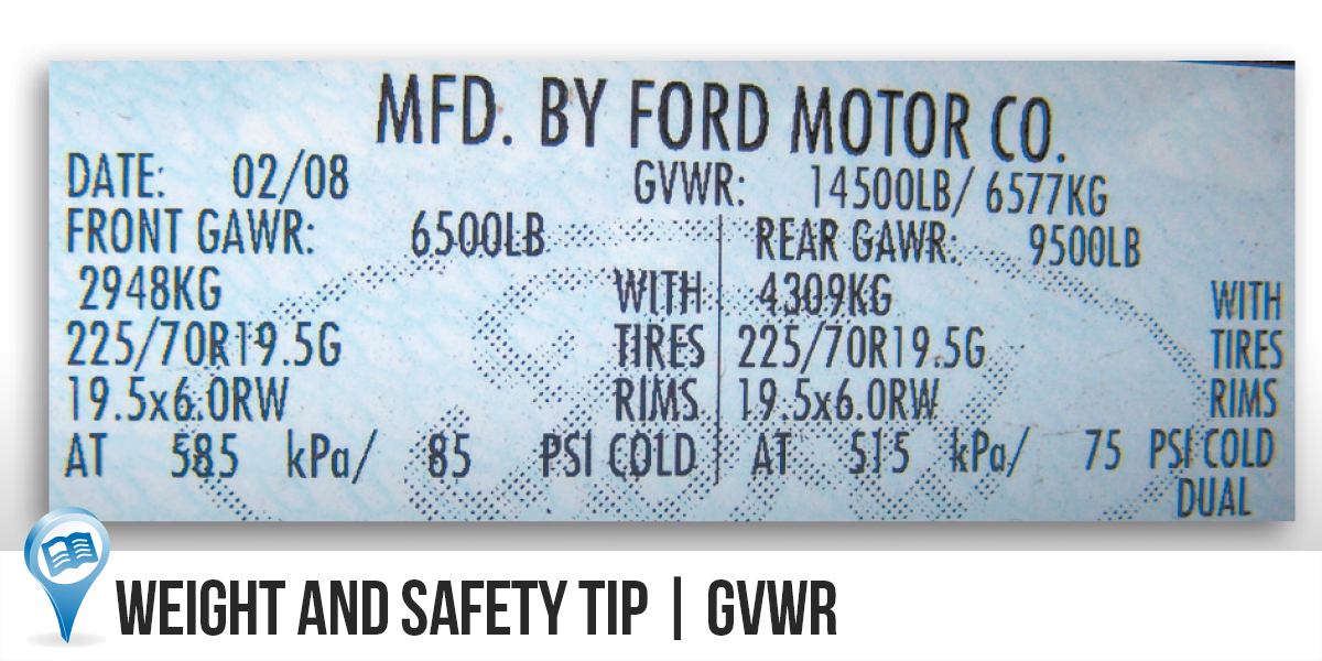Weight and Safety Tip | GVWR