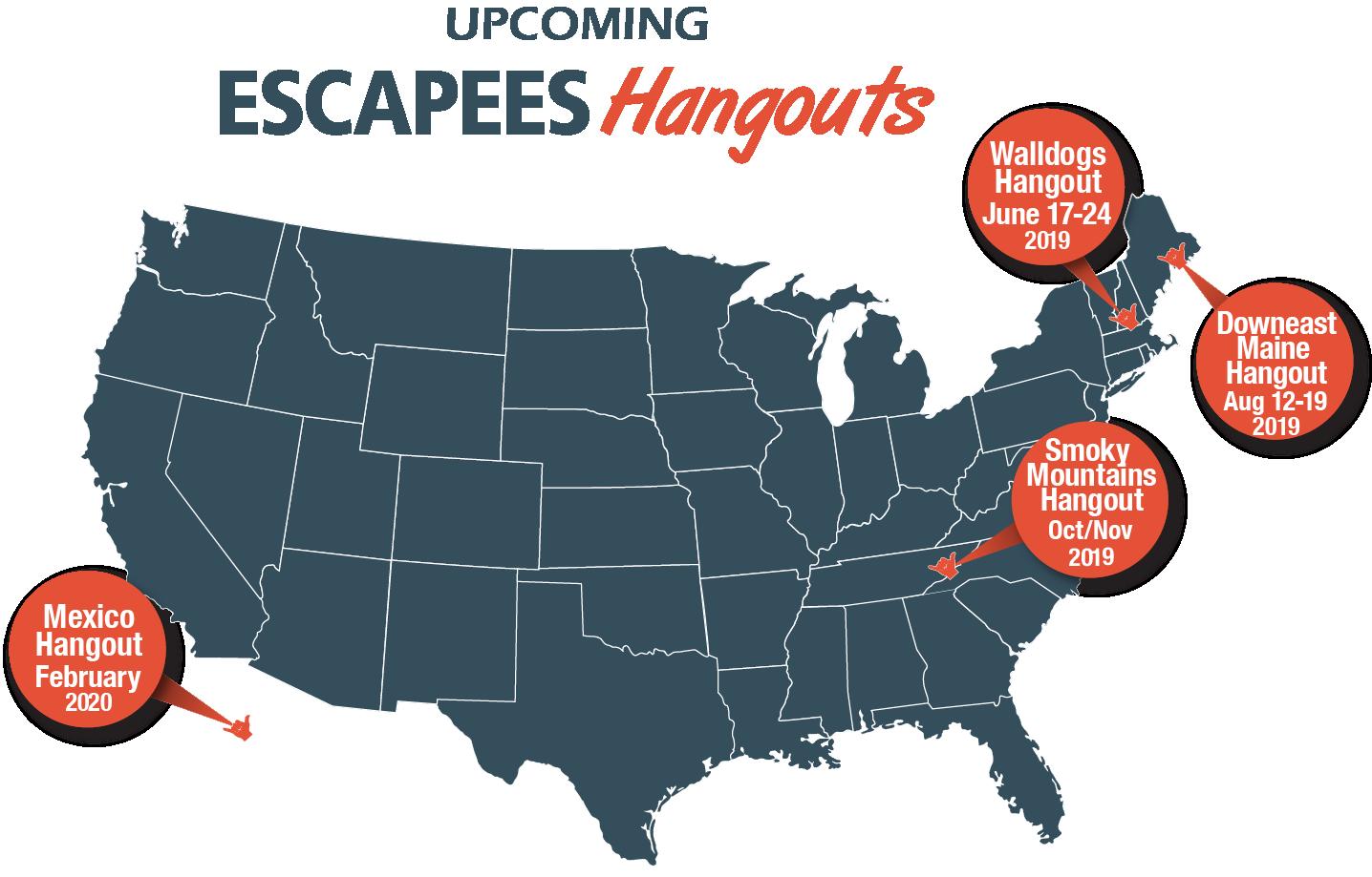 Escapees Hangout Map