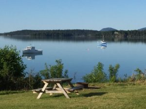 View from Acadia Seashores campground