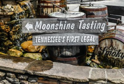 Ole Smoky Moonshine tasting sign