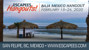 Baja Mexico Hangout event page header - palapas on beach