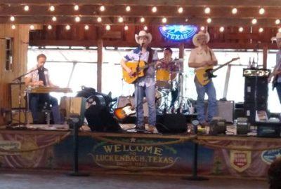 Luckenbach Texas dance hall stage