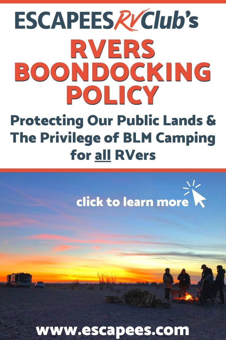 RVers Boondocking Policy