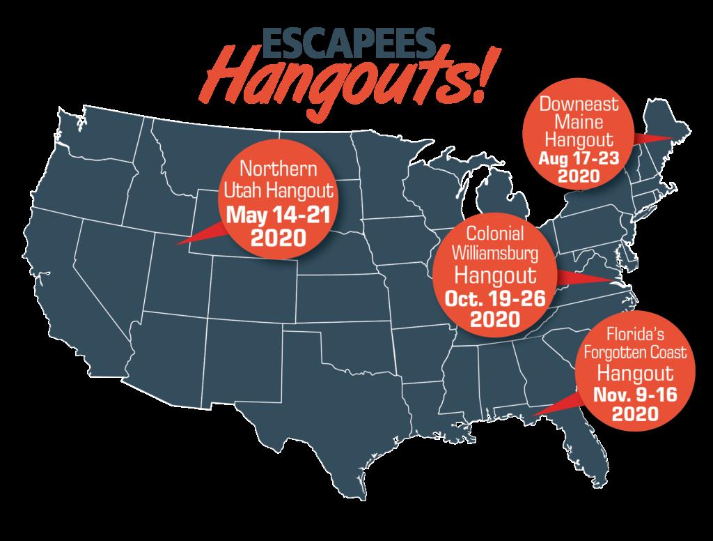 Map of upcoming Hangouts