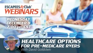 Header for the Healthcare Options for Pre-Medicare RVers