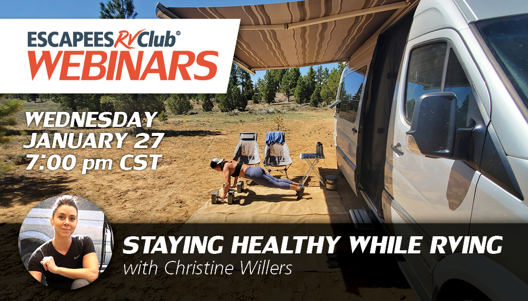 Staying Healthy while RVing webinar cover
