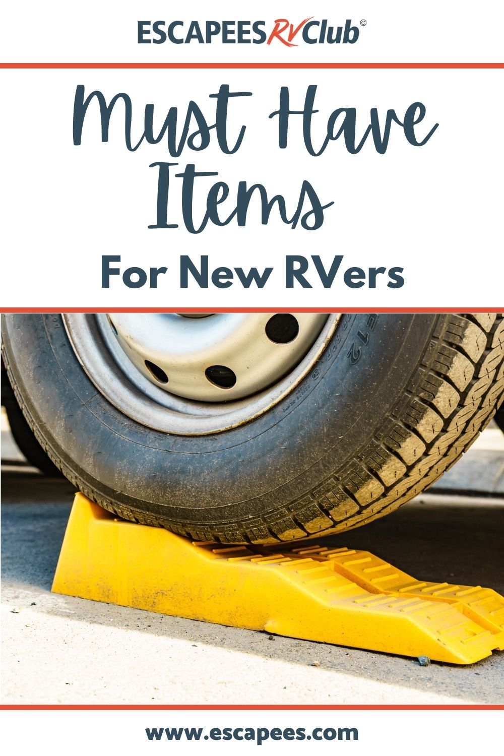 Must-Have Items for New RVers Pinterest graphic