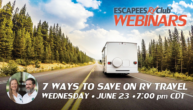 Header for 7 Ways to Save on RV Travel