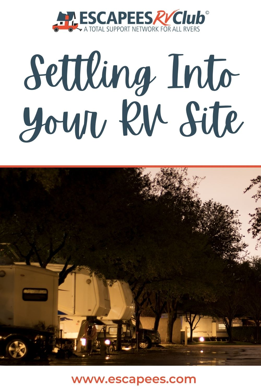 Settling into your RV site