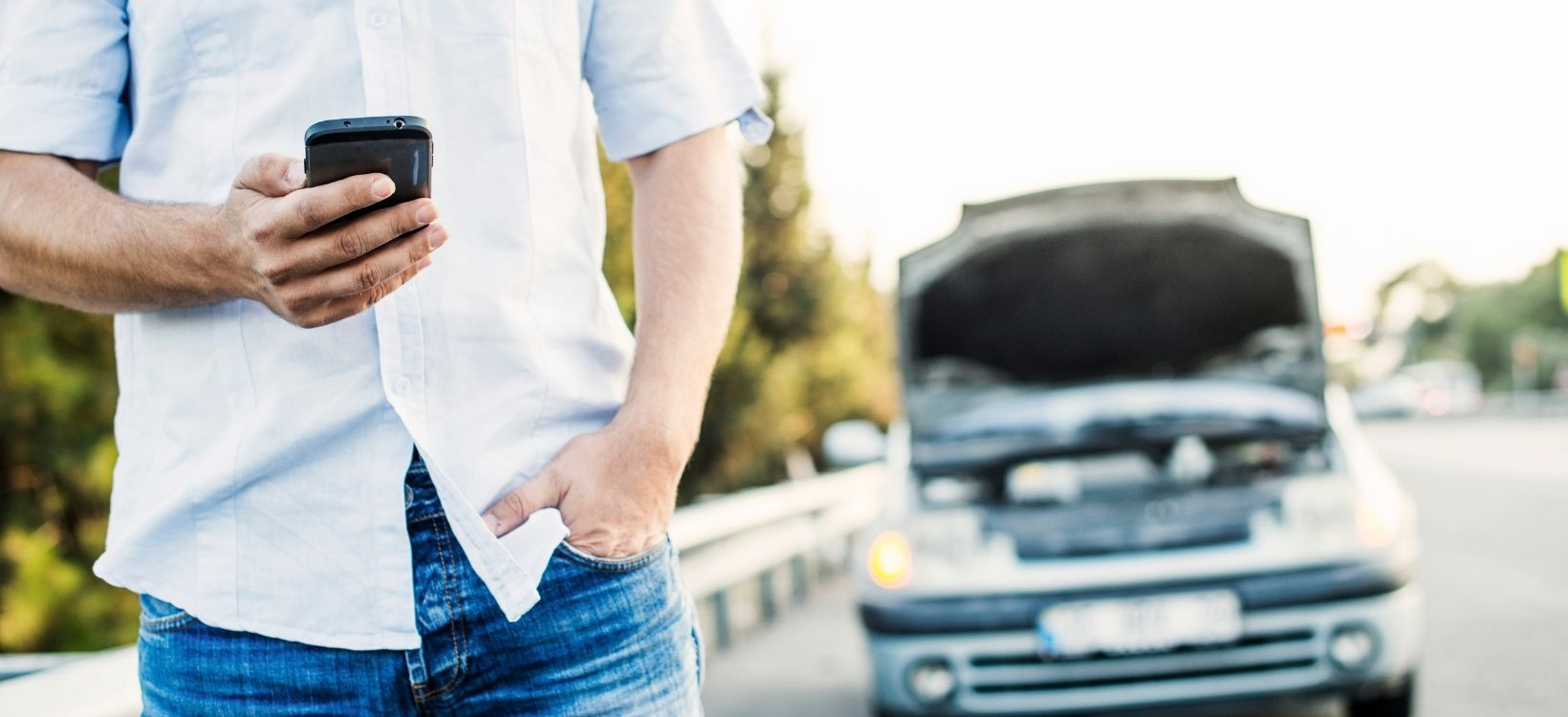 If you need roadside assistance to get you running again, make sure you're in a safe place before you take the time to call.